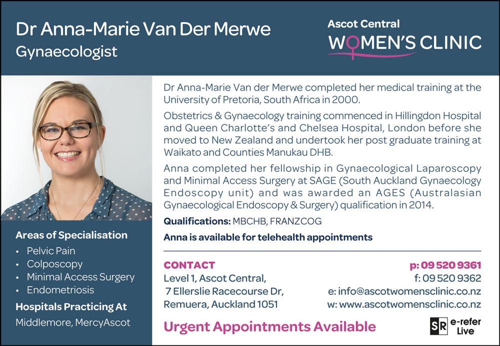 Dr Anna-Marie Van Der Merwe