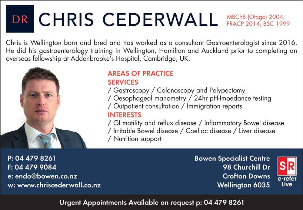 Dr Christopher Cederwall